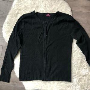Girl's Black Cardigan Size 6-8